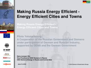 Making Russia Energy Efficient - Energy Efficient Cities and Towns