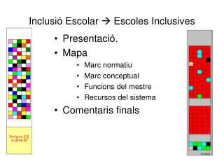 Inclusió Escolar   Escoles Inclusives