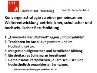 Prof. Dr. Peter  Faulstich