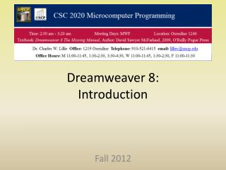 Dreamweaver 8: Introduction