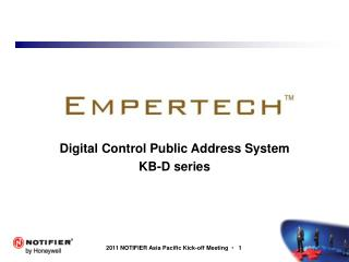 Digital Control Public Address System KB-D series