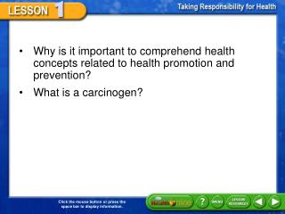 Why is it important to comprehend health concepts related to health promotion and prevention?