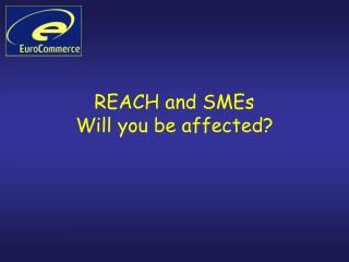 REACH and SMEs Will you be affected?