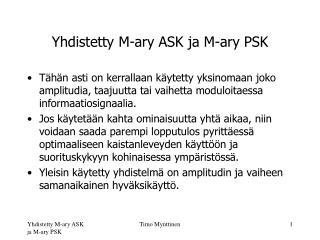 Yhdistetty M-ary ASK ja M-ary PSK