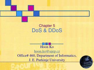 Chapter 5 DoS & DDoS