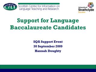 Support for Language Baccalaureate Candidates
