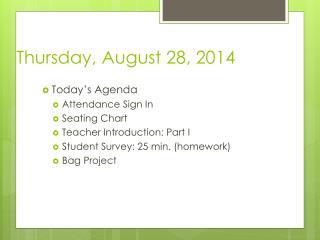 Thursday, August 28, 2014