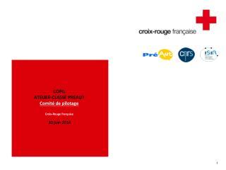 COPIL ATELIER-CLASSE PREAUT Comité de pilotage Croix-Rouge française  30 juin 2014