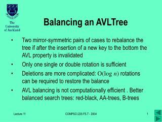 Balancing an AVLTree