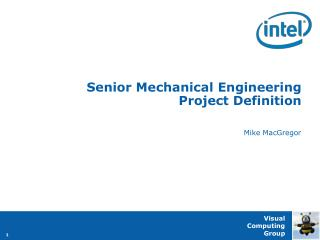 Senior Mechanical Engineering Project Definition