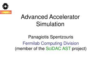 Advanced Accelerator Simulation