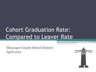 Cohort Graduation Rate: Compared to Leaver Rate