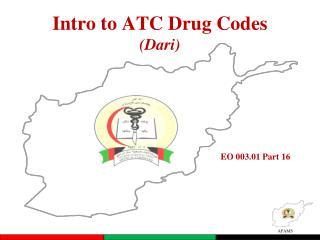 Intro to ATC Drug Codes (Dari)