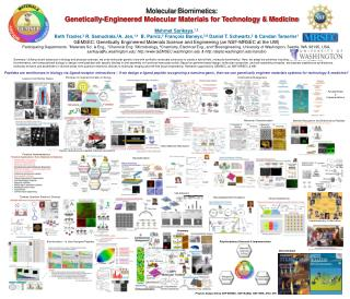 Molecular  Biomimetics :  Genetically-Engineered Molecular Materials for Technology & Medicine