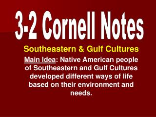 Southeastern & Gulf Cultures