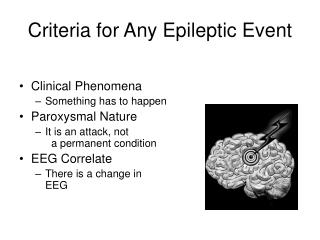 Criteria for Any Epileptic Event