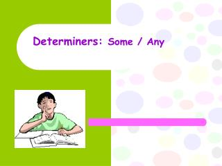 Determiners:  Some / Any