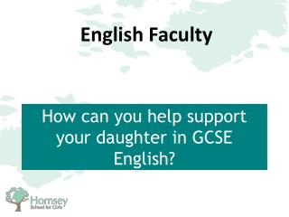 How can you help support your daughter in GCSE English?