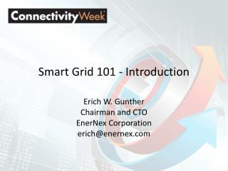 Smart Grid 101 - Introduction