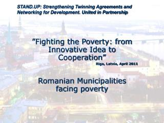STAND.UP: Strengthening Twinning Agreements and Networking for Development. United in Partnership