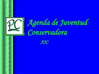 Agenda de Juventud  Conservadora .