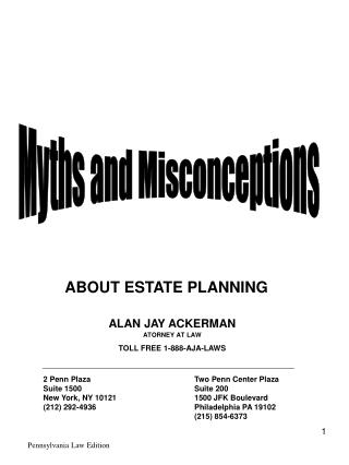 ABOUT ESTATE PLANNING
