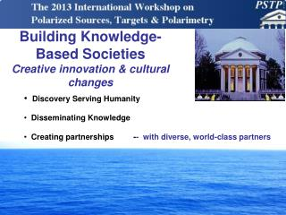 Building Knowledge-Based Societies Creative innovation & cultural changes