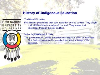 History of Indigenous Education