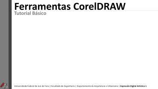 Ferramentas  CorelDRAW
