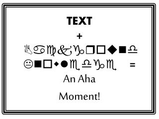 TEXT  + Background Knowledge  = An Aha  Moment!