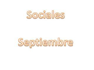 Sociales  Septiembre