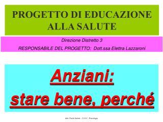 PROGETTO DI EDUCAZIONE ALLA SALUTE
