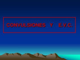 CONVULSIONES   Y    E.V.C.