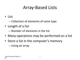 Array-Based Lists