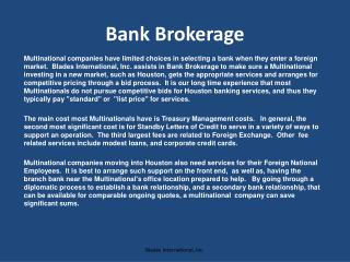 Bank Brokerage