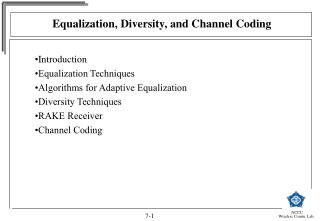 Equalization, Diversity, and Channel Coding
