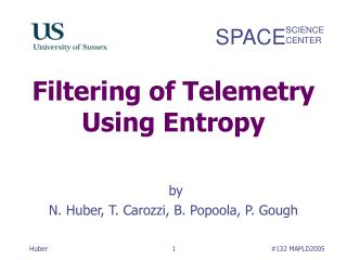 Filtering of Telemetry Using Entropy