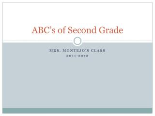 ABC�s of  Second  G rade