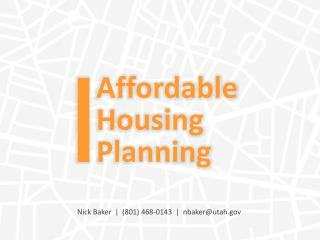 Affordable Housing Planning