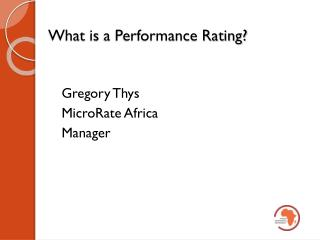 What is  a Performance Rating?
