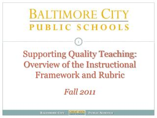 Why an Instructional Framework and Rubric