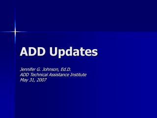 ADD Updates