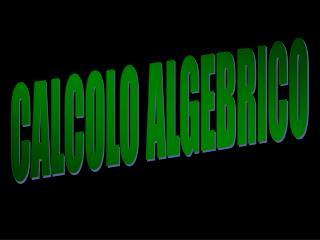 CALCOLO ALGEBRICO