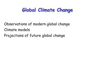 Global Climate Change
