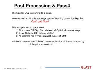 Post Processing & Pass4