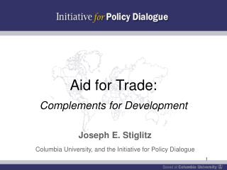 Aid for Trade:  Complements for Development