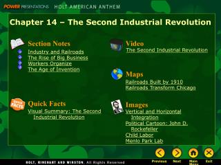 Chapter 14 � The Second Industrial Revolution