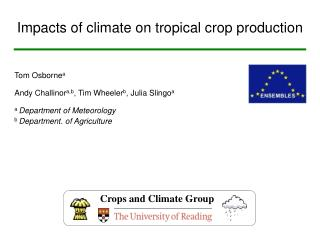 Impacts of climate on tropical crop production
