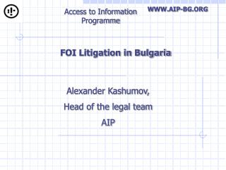FOI Litigation in Bulgaria