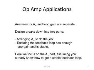 Op Amp Applications